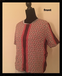 Artsy Red Patterned Shirt  Womens Size Medium  Great for the Fall Season! FREE SHIPPING Artsy Red Patterned Shirt  Womens Size Medium  Great for the Fall Season!