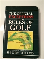 The Official Exceptions to the rules of golf, preowned, Great Deal ! with free shipping