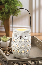 White Owl Candle Holder: only 4 Remaining ! Free Shipping White Owl Candle Holder, fall, autumn, halloween, thanksgiving
