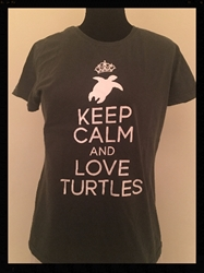 Keep Calm and Love Turtles T Shirt fits like Adult Small. Preowned good condtion Keep Calm and Love Turtles T Shirt fits like Adult Small.