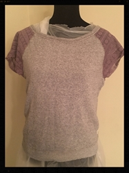 American Eagle Top with Purple Cap Sleeves, Size Medium  FREE SHIPPING American Eagle Top with Purple Cap Sleeves, Size Medium