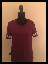 Sporty and Cute! Burgundy Top,  Forever 21, Size Womens Medium FREE SHIPPING Sporty and Cute! Burgundy Top,  Forever 21, Size Womens Medium