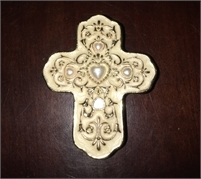 Pretty Cross Box jewelry or special items holder Lined with free shipping