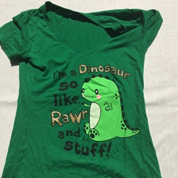 Cute! Dinosaur T Shirt Girls Juniors Size Small FREE SHIPPING Cute! Dinosaur T Shirt Girls Juniors Size Small