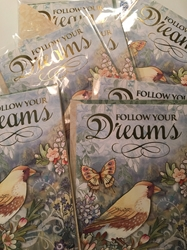 Follow Your Dreams 6 Blank Note Cards  with free shipping