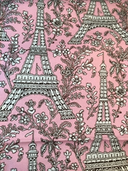 French Motif Fabric with Free Shipping