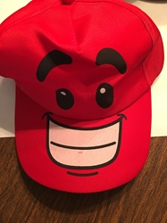 Red Fun Face Hat   Red Fun Face Hat