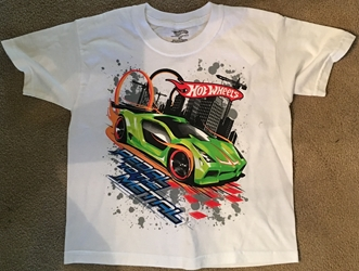 Hot Wheels TShirt kids size 6 or 7 New without Tag   kids size 6/7