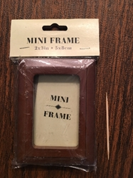 "New Condition. Mini Frame  2"" x 3"" Brown Frame"