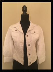 White Denim Jean Jacket : Girls, Large, Free Shipping White Denim Jean Jacket : Girls, Large,